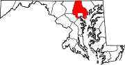 Map of Maryland highlighting Baltimore County.svg
