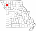 Map of Missouri highlighting DeKalb County.png