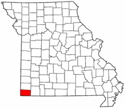 Map of Missouri highlighting McDonald County.png