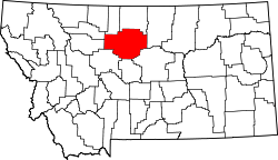 Map of Montana highlighting Chouteau County.svg