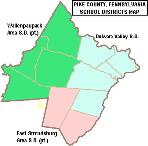 Pike County, Pennsylvania - Map of Pike County, Pennsylvania School Districts