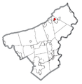 Map of Roseto, Northampton County, Pennsylvania Highlighted.png