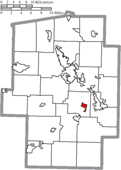Location of Tuscarawas in Tuscarawas County