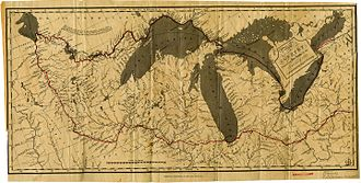 Stephen Harriman Long - A map of the 1823 expedition to the Red River of the North.