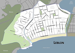 Leblon - Map of Leblon.