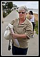 Margate Pelican Rescue- Sally with Pelican-4 (6811336790).jpg