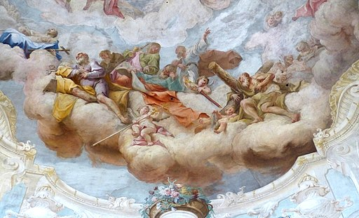 Maria Dreieichen - Fresko Kuppel 4 Apostel