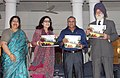 "Marshal of the Indian Air Force Arjan Singh released a Coffee Table Book ""Air House….Down the Years"", in New Delhi on July 19, 2011. The Chief of the Air Staff, Air Chief Marshal P.V. Naik is also seen.jpg"