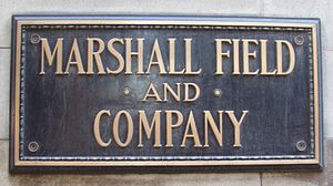 Marshall Field and Company Building - A remaining Marshall Field's building nameplate (2006)