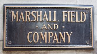 Marshall Field's - The name plaque at the State Street store in Chicago