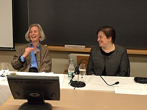 Martha Minow - Martha Minow and then-Solicitor General Elena Kagan at Harvard Law School.