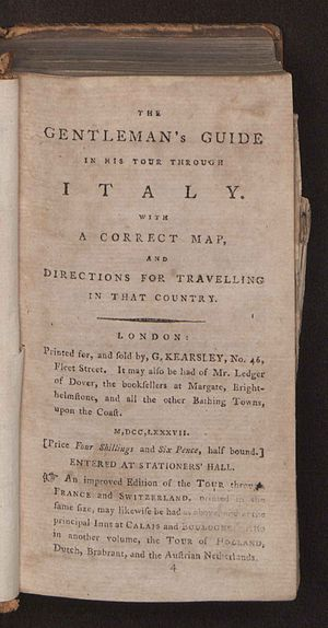 Thomas Martyn - Gentleman's guide in his tour through Italy, 1787