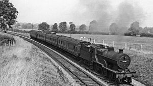 Somerset and Dorset Joint Railway - View northward at Masbury Summit in 1959