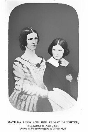 Matilda Ashurst Biggs - Matilda Biggs and her eldest daughter, Elizabeth Ashurst