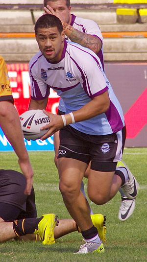 Matthew Wright (rugby league) - Wright playing for the Sharks-Storm team in the NSW Cup in 2012