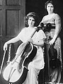 May Harrison, violinist, and Beatrice Harrison, cellist, c. 1920s.jpg
