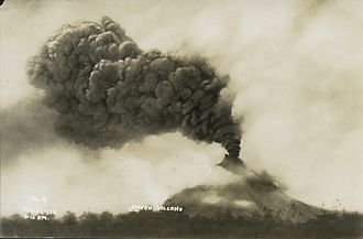 Mayon - Mount Mayon in eruption on July 21, 1928