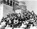Mayor Raymond L. Flynn with group on steps of U.S. Capitol (9519692350).jpg