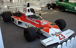 Dave Charlton - Charlton drove the McLaren M23 of car number 23 during the 1974 South African Grand Prix.