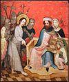 Medio reno o westfalia, altare del medio reno, 1410 ca., verso 07 cristo davanti a pilato.jpg