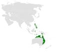 Megalurus timoriensis distribution map.png