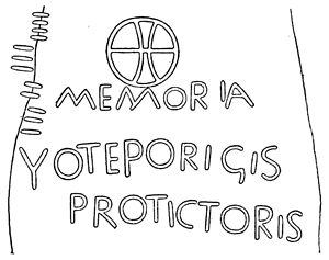 Vortiporius - The Latin inscription on the 'Monument of Voteporigis the Protector', from a rubbing of the stone.