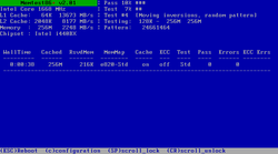 Screenshot of Memtest86+