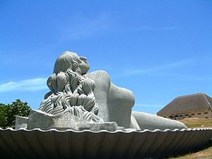 Culture of Thiruvananthapuram - Giant Statue of Mermaid at Shankumugham Beach