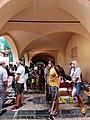 Mercato nella Loggia della Repubblica Nolese con pioggia - Noli.jpg
