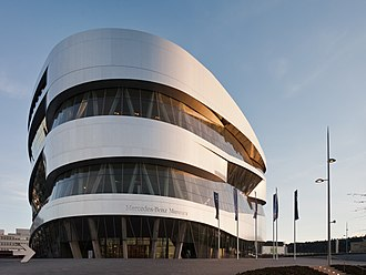 Mercedes-Benz Museum - The museum building.