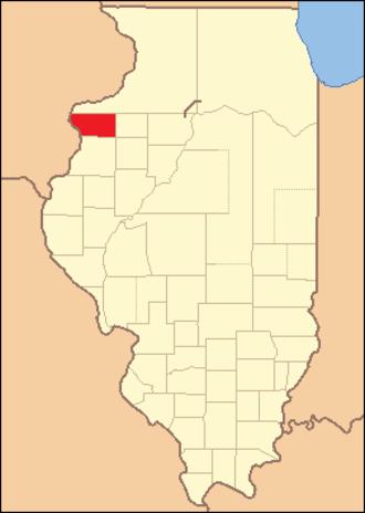 Mercer County, Illinois - Image: Mercer County Illinois 1827