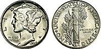 1936 Winged Liberty Head (Mercury) dime