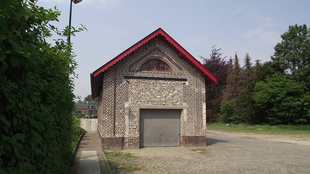 Old vicinal railway depot building in Merelbeke.