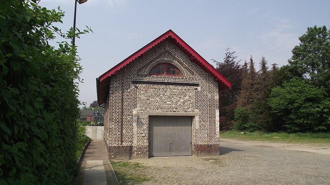 Old vicinal railway depot building in Merelbeke.