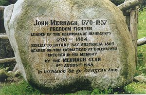 Penal colony - Epigraphy in honour of an Irish prisoner in the Australian penal colony of Botany Bay.