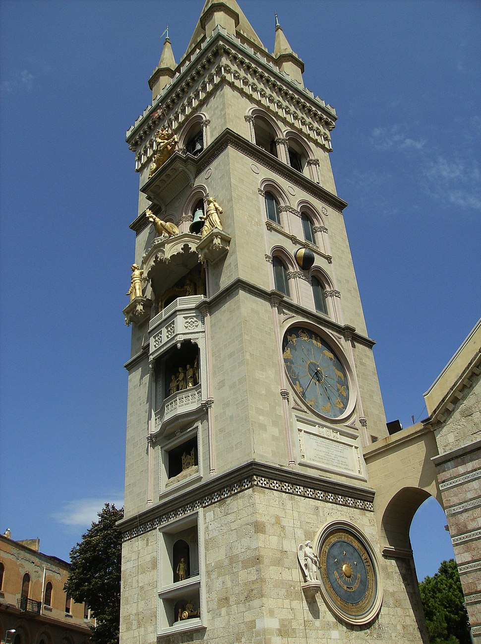 Messina duomo tower 2