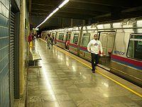 Estação Galeria no Metrô do Distrito Federal