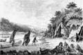 Mi'kmaw Encampment by Hibbert Binney, c.1791, Nova Scotia Museum.png