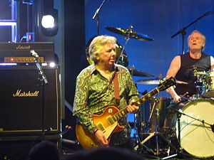 Mick Ralphs - Ralphs performing with Mott the Hoople at a reunion gig, Hammersmith Apollo, October 2009