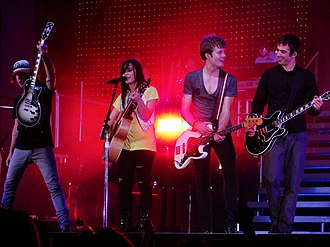 Don't Forget - Lovato performing with her band in Columbus, Ohio as part of her 2009 tour