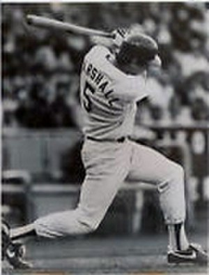 Mike Marshall (outfielder) - Marshall batting for the Dodgers in 1984