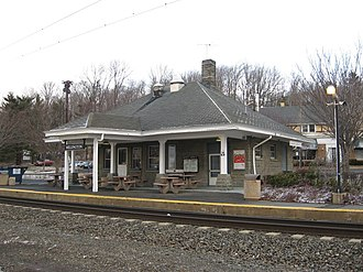 Millington station - The station at Millington, seen from across the tracks.