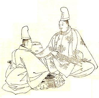 Minamoto no Makoto - MInamoto no Makoto with his brother by Kikuchi Yōsai