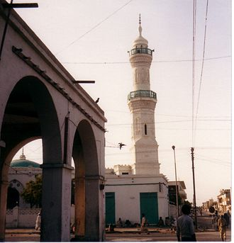 Sudanese Arabs - A minaret in Port Sudan.