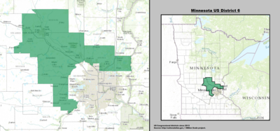 Minnesotas Th Congressional District Wikipedia - Minnesota us map