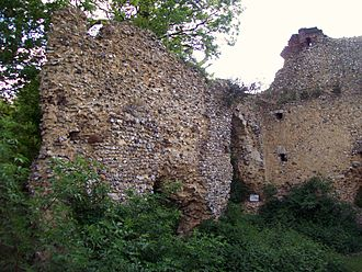 Minsden Chapel - The ruined Minsden Chapel in 2010