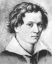 Mörike zwanzigjährig als Student in Tübingen, Bleistiftzeichnung von 1824 (Quelle: Wikimedia)
