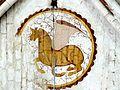 Mogneville (60), église Saint-Denis, chœur, peinture murale sous la voûte 2.jpg