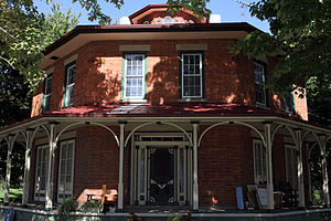 National Register of Historic Places listings in Huron County, Ohio - Image: Monroeville, Ohio, Octagon House