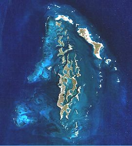 Satellitenbild der Inselgruppe (Nasa World Wind)